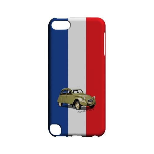 Citroen 2CV on Blue/ White/ Red - Geeks Designer Line Auto Series Hard Case for Apple iPod Touch 5