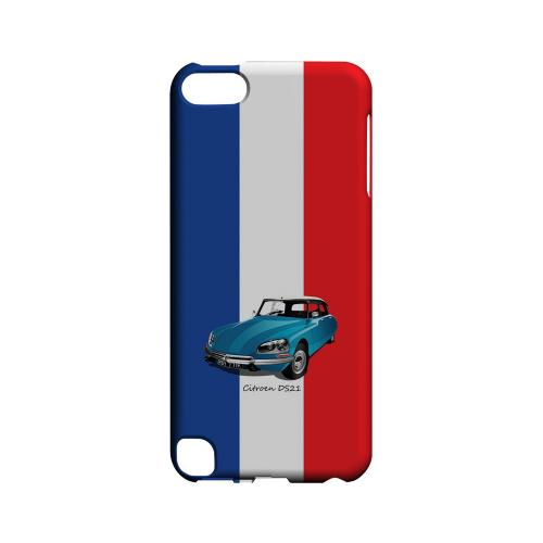 Citroen DS21 on Blue/ White/ Red - Geeks Designer Line Auto Series Hard Case for Apple iPod Touch 5