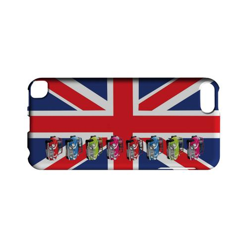 Multi Mini Coopers on Union Jack - Geeks Designer Line Auto Series Hard Case for Apple iPod Touch 5