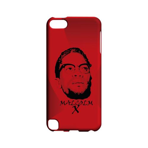 Malcolm X in the Middle on Red - Geeks Designer Line Revolutionary Series Hard Case for Apple iPod Touch 5