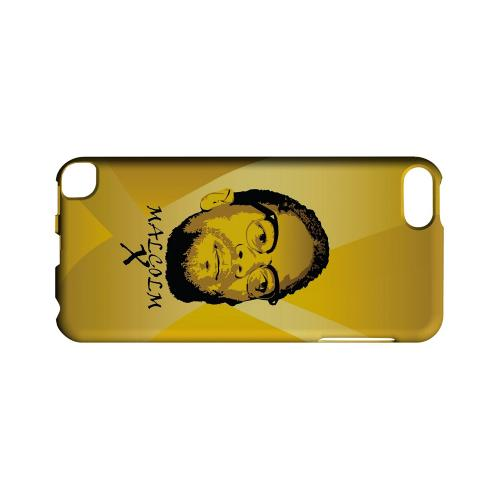 Malcolm X in the Middle on Yellow - Geeks Designer Line Revolutionary Series Hard Case for Apple iPod Touch 5