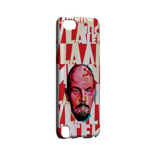 Lenin Complex on Red - Geeks Designer Line Revolutionary Series Hard Case for Apple iPod Touch 5