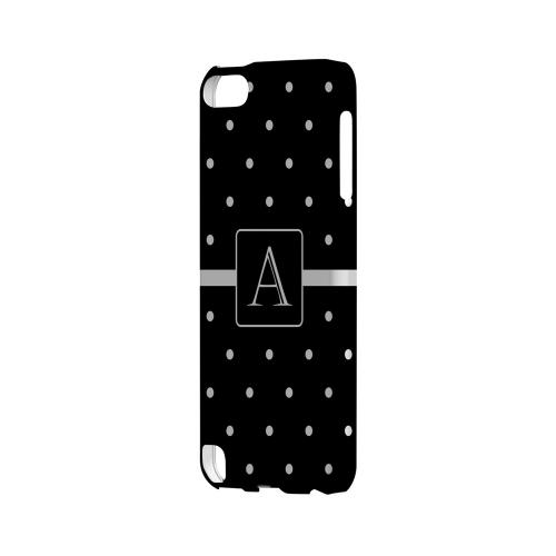 A on Classic Mini Polka Dots - Geeks Designer Line Monogram Series Hard Case for Apple iPod Touch 5
