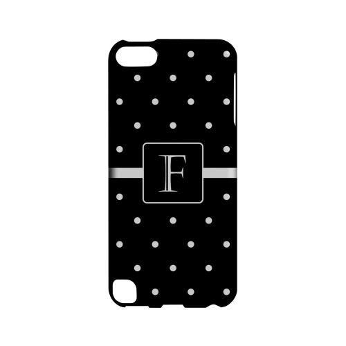 F on Classic Mini Polka Dots - Geeks Designer Line Monogram Series Hard Case for Apple iPod Touch 5