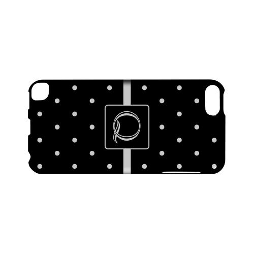 Q on Classic Mini Polka Dots - Geeks Designer Line Monogram Series Hard Case for Apple iPod Touch 5