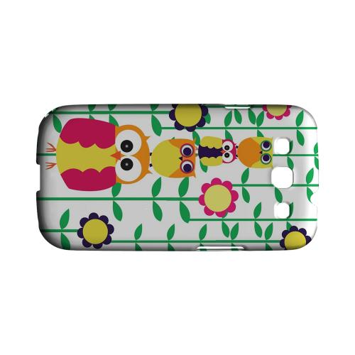 Geeks Designer Line (GDL) Owl Series Samsung Galaxy S3 Matte Hard Back Cover - Colorful Owl Tower