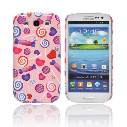 Geeks Designer Line (GDL) Samsung Galaxy S3 Matte Hard Back Cover - Assorted Candy