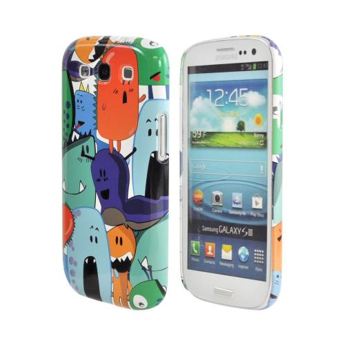 Geeks Designer Line (GDL) Samsung Galaxy S3 Matte Hard Back Cover - ZORGBLATS Gang on White