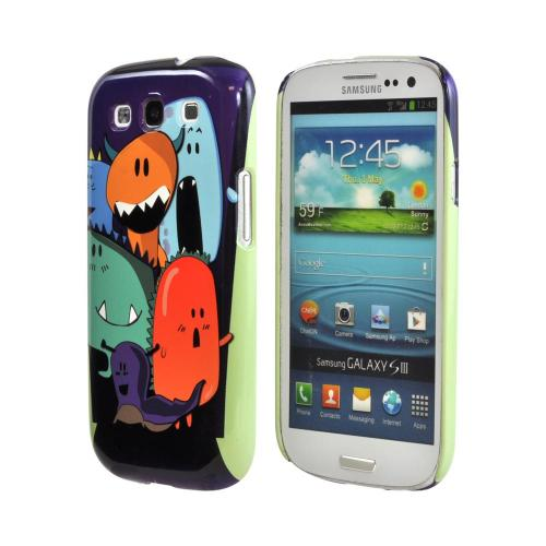 Geeks Designer Line (GDL) Samsung Galaxy S3 Matte Hard Back Cover - ZORGBLATS on Purple