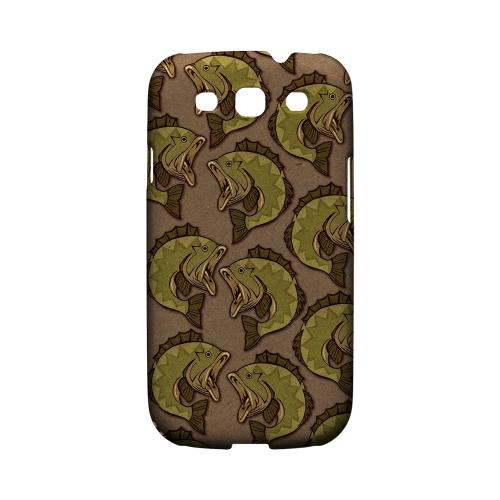 Geeks Designer Line (GDL) Fish Series Samsung Galaxy S3 Matte Hard Back Cover - Large Mouth Bass Design
