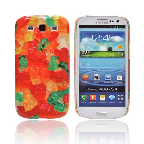 Geeks Designer Line (GDL) Samsung Galaxy S3 Matte Hard Back Cover - Multi-Colored Gummy Bears