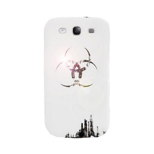 Geeks Designer Line (GDL) Retro Series Samsung Galaxy S3 Matte Hard Back Cover - Ghost Town