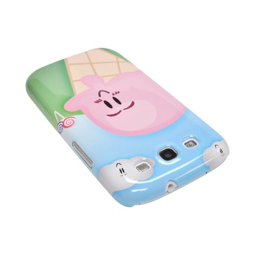 Geeks Designer Line (GDL) Samsung Galaxy S3 Matte Hard Back Cover - Cute Pink Ice Cream Cone