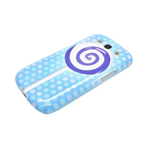 Geeks Designer Line (GDL) Samsung Galaxy S3 Matte Hard Back Cover - Purple Lollipop