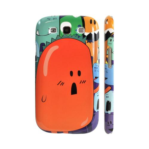 Geeks Designer Line (GDL) Samsung Galaxy S3 Matte Hard Back Cover - Orange Moob Close-Up