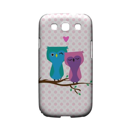 Geeks Designer Line (GDL) Owl Series Samsung Galaxy S3 Matte Hard Back Cover - Owl Love You Forever