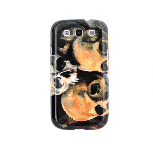 Geeks Designer Line (GDL) Samsung Galaxy S3 Paul Cezanne Matte Hard Back Cover - Pyramid of Skulls