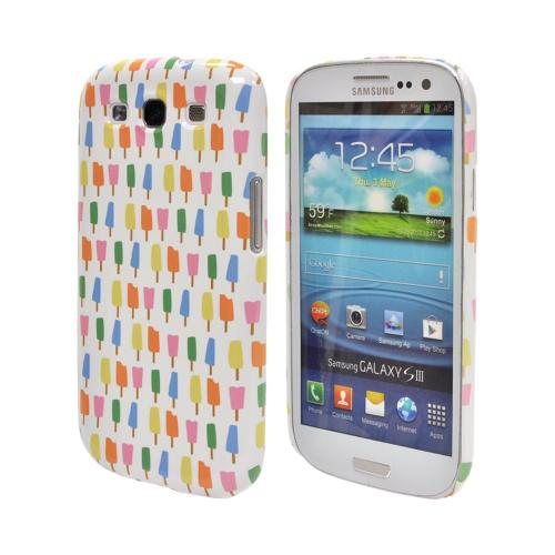 Geeks Designer Line (GDL) Samsung Galaxy S3 Matte Hard Back Cover - Assorted Popsicles