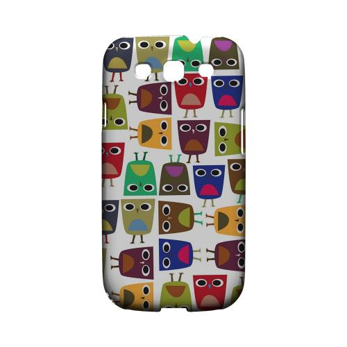 Geeks Designer Line (GDL) Owl Series Samsung Galaxy S3 Matte Hard Back Cover - Quadrilateral Owl Configuration