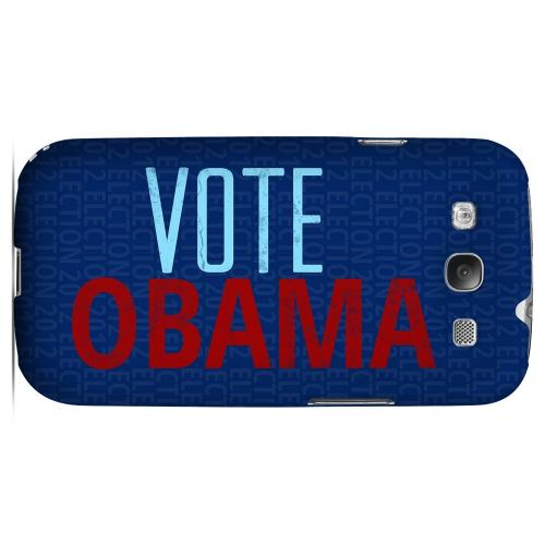 Geeks Designer Line (GDL) 2012 Election Series Samsung Galaxy S3 Matte Hard Back Cover - Red/ Blue Obama
