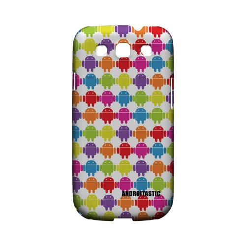 Geeks Designer Line (GDL) Androitastic Samsung Galaxy S3 Matte Hard Back Cover -  Rainbow Robot Army Design