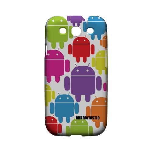 Geeks Designer Line (GDL) Androitastic Samsung Galaxy S3 Matte Hard Back Cover -  Rainbow Robots Design
