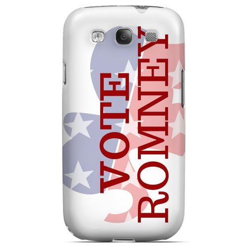Geeks Designer Line (GDL) 2012 Election Series Samsung Galaxy S3 Matte Hard Back Cover - Red/ White/ Blue Romney