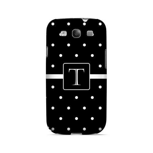 T on Classic Mini Polka Dots - Geeks Designer Line Monogram Series Matte Case for Samsung Galaxy S3