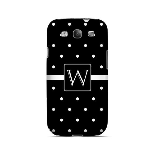 W on Classic Mini Polka Dots - Geeks Designer Line Monogram Series Matte Case for Samsung Galaxy S3