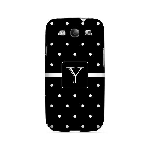 Y on Classic Mini Polka Dots - Geeks Designer Line Monogram Series Matte Case for Samsung Galaxy S3