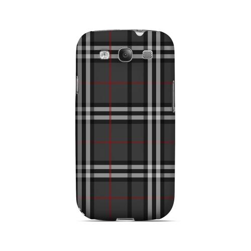Classic Dark White/ Red Plaid - Geeks Designer Line Checker Series Matte Case for Samsung Galaxy S3