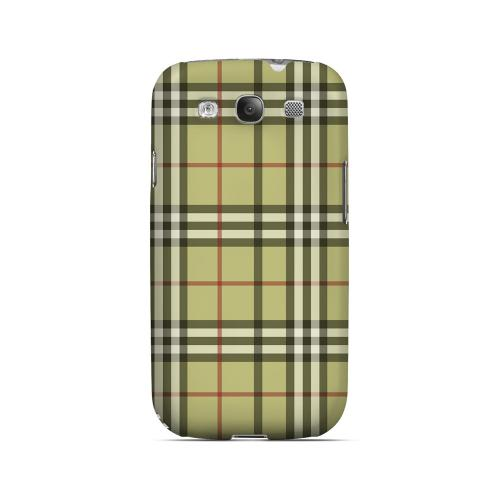 Classic Yellow/ White/ Red Plaid - Geeks Designer Line Checker Series Matte Case for Samsung Galaxy S3