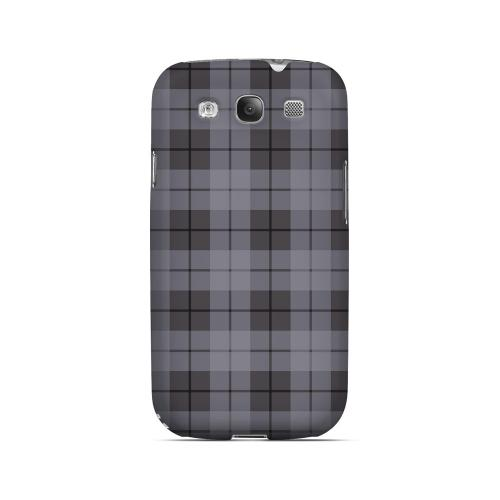 Grayish Plaid - Geeks Designer Line Checker Series Matte Case for Samsung Galaxy S3