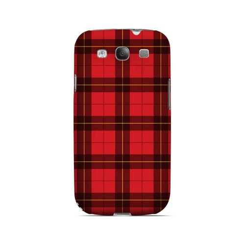 Scottish-Like Plaid in Red - Geeks Designer Line Checker Series Matte Case for Samsung Galaxy S3