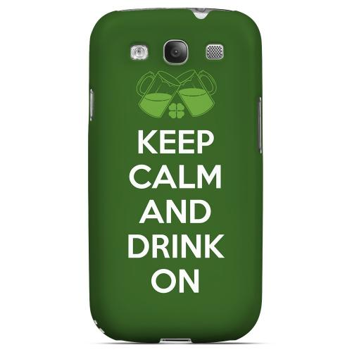 Drink On - Geeks Designer Line Holiday Series Matte Case for Samsung Galaxy S3