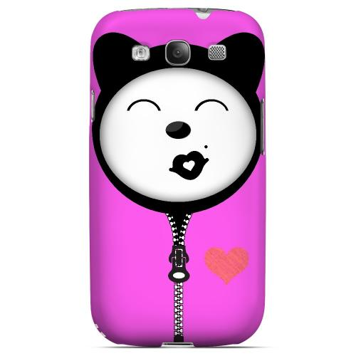 Kissycat - Geeks Designer Line Hoodie Kitty Series Matte Case for Samsung Galaxy S3