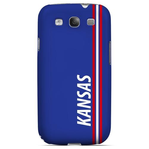 Kansas - Geeks Designer Line March Madness Series Matte Case for Samsung Galaxy S3