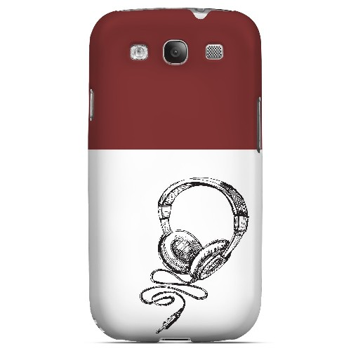 Head Bobbing Maroon - Geeks Designer Line Music Series Matte Case for Samsung Galaxy S3