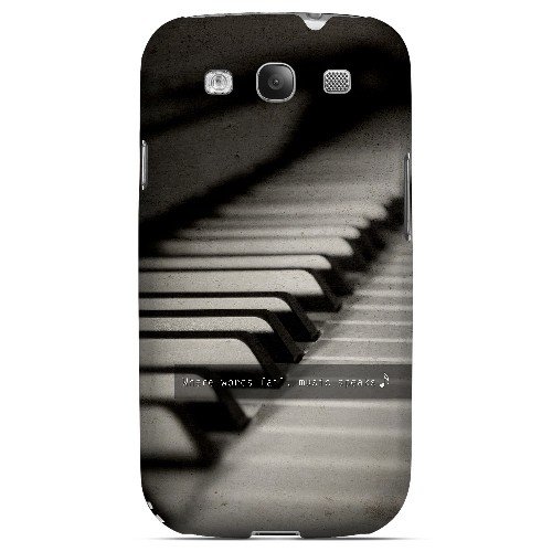 Music Speaks - Geeks Designer Line Music Series Matte Case for Samsung Galaxy S3