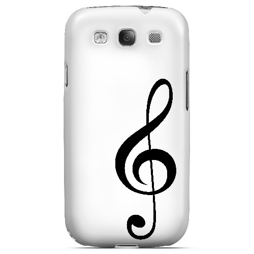 Simple Treble Clef - Geeks Designer Line Music Series Matte Case for Samsung Galaxy S3
