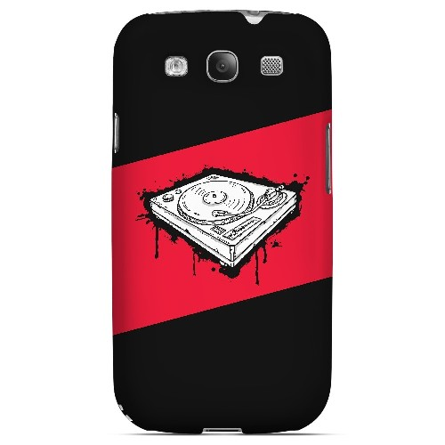 Wheel of Steel Red - Geeks Designer Line Music Series Matte Case for Samsung Galaxy S3