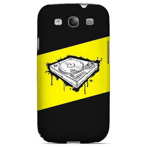 Wheel of Steel Yellow - Geeks Designer Line Music Series Matte Case for Samsung Galaxy S3