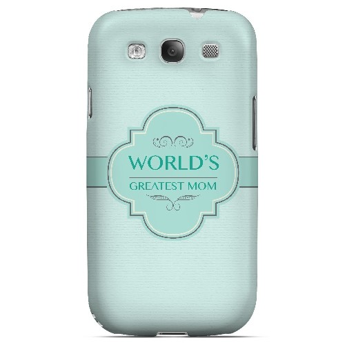 Vintage World's Greatest Mom - Geeks Designer Line Mom Series Matte Case for Samsung Galaxy S3