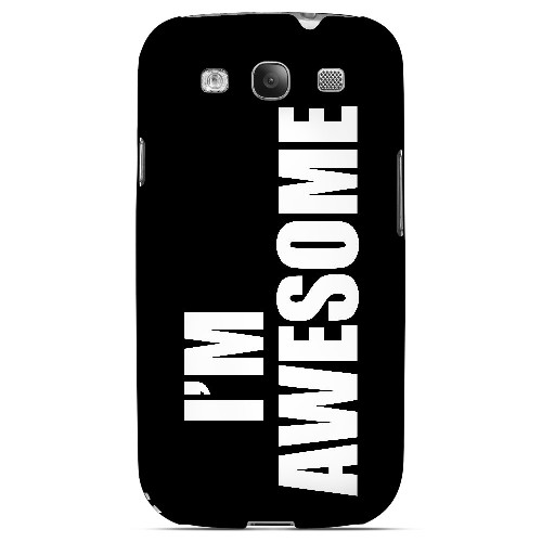 Awesome - Geeks Designer Line Humor Series Matte Case for Samsung Galaxy S3