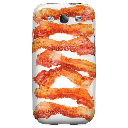 Bacon Goes Good - Geeks Designer Line Humor Series Matte Case for Samsung Galaxy S3