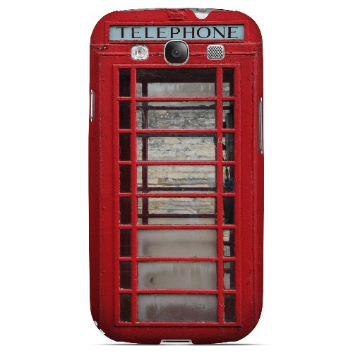 English Telephone Booth - Geeks Designer Line Humor Series Matte Case for Samsung Galaxy S3