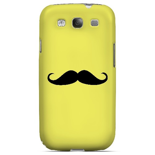 Mustache Yellow - Geeks Designer Line Humor Series Matte Case for Samsung Galaxy S3