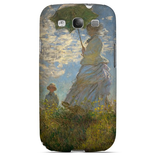 Woman with a Parasol - Madame Monet and Her Son by Claude Monet - Geeks Designer Line Artist Series Matte Case for Samsung Galaxy S3