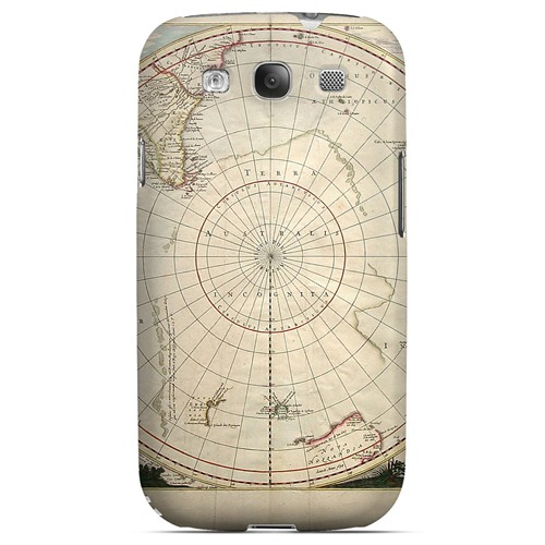 Terra Australis Incognita - Geeks Designer Line Map Series Matte Case for Samsung Galaxy S3