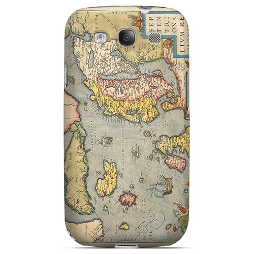 Ancient Map of Europe - Geeks Designer Line Map Series Matte Case for Samsung Galaxy S3
